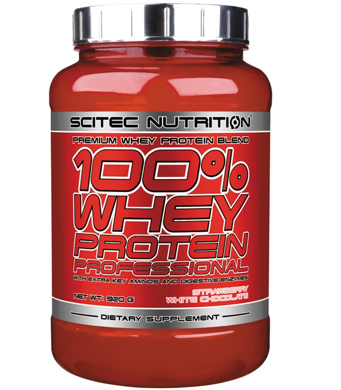 100% Whey Protein Professional, Næringstilskud, protein - Scitec