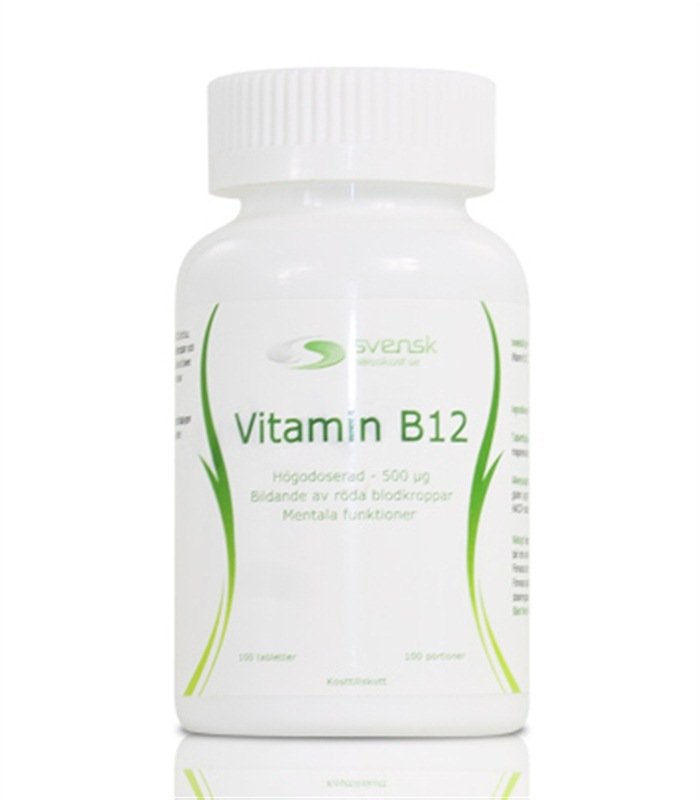 Køb Vitamin B12 hos Svensk Kosttilskud
