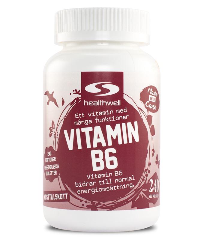 Køb Vitamin B6 hos Svensk Kosttilskud